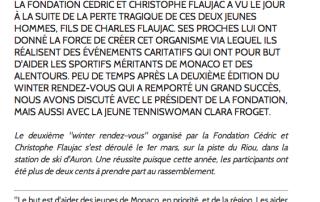 CodeSport Monaco | Fondation Cédric et Christophe Flaujac : Soutien indéfectible aux sportifs | Solidarite 2014-05-22 00-57-00